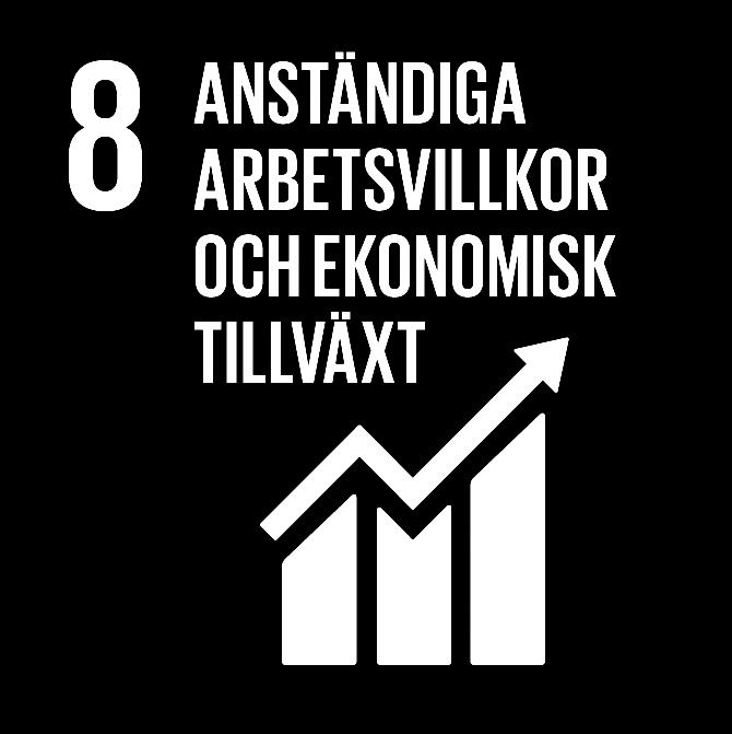 FN:s 17 globala hållbarhetsmål: 8 Anständiga arbetsvillkor och ekonomisk tillväxt