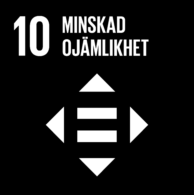 FN:s 17 globala hållbarhetsmål: 10 Minskad ojämlikhet